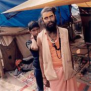 Two pilgrims at the Kumbh Mela