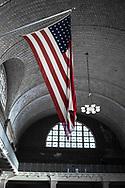 NEW YORK  2020V10<br /> Amerikansk flagga i registreringsrummet på Ellis Island.<br /> <br /> Foto: Per Danielsson/Projekt.P