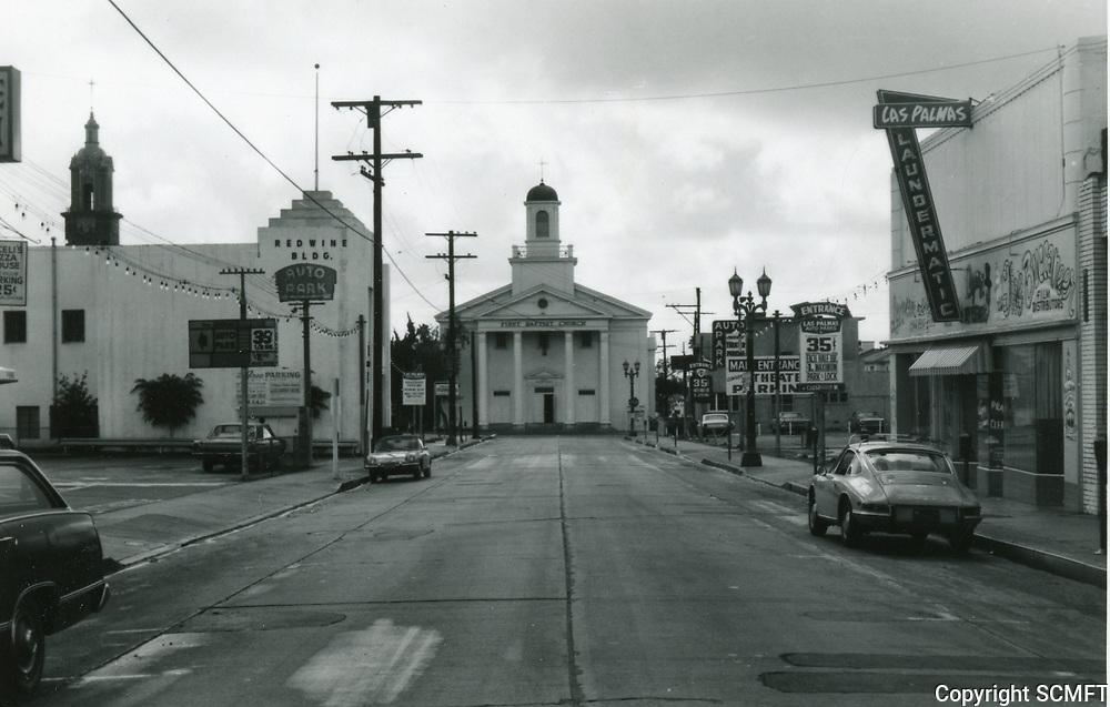 1970 First Baptist Church at Selma Ave. & Las Palmas Ave.