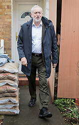 © Licensed to London News Pictures. 03/04/2018. London, UK. Leader of the Labour Party, Jeremy Corbyn leaves home. Mr Corbyn is under increasing pressure over alleged anti-Semitism in the Labour Party. Photo credit: Peter Macdiarmid/LNP