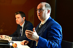 Chief Executive of the British Horseracing Authority Nick Rust (right) and Chief Regulatory Officer of the British Horseracing Authority Brant Dunshea during the BHA Press Conference at Pullman Hotel St Pancras, London.