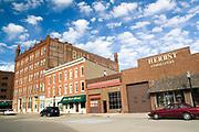 Iowa USA, A 19th century building in Dubuque IA.