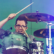 BALTIMORE United States - September 19, 2015: Sam Loeffler of Chevelle, performs at The Shindig, in Baltimore's historic Carroll Park