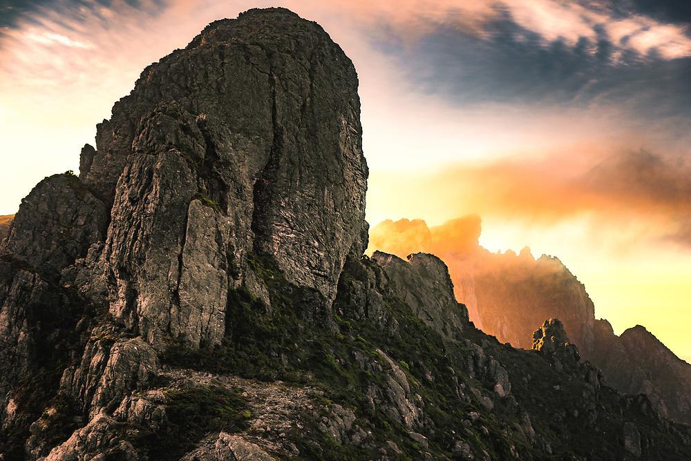 Mount Hesperus in Western Arthur Range, Southwest Tasmania