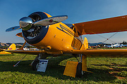 """Beechcraft G17S """"Staggerwing"""" at 2014 Hood River Fly-In at WAAAM."""