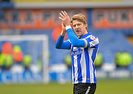 Sheffield Wednesday Defender Glenn Loovens celebrates at the final whistle during the Sky Bet Championship match between Sheffield Wednesday and Leeds United at Hillsborough, Sheffield, England on 16 January 2016. Photo by Adam Rivers.