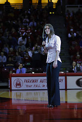 28 December 2009: Kristi Cirone - Illinois State University paid tribute to Kristi Cirone by raising a banner and retiring the Ladies Jersey #10, the number she wore for 4 years as a Redbird.  It was Kristi Cirone night, but The Blue Demons of DePaul University cling to the lead beating the Redbirds of Illinois State University by a score of 63-61 on Doug Collins Court in Redbird Arena in Normal Illinois.