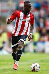 Moses Odubajo of Brentford - Mandatory by-line: Jason Brown/JMP - Mobile 07966 386802 25/07/2015 - SPORT - FOOTBALL - Brentford, Griffin Park - Brentford v Stoke City - Pre-Season Friendly