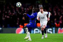 Ngolo Kante of Chelsea chases the loose ball  - Mandatory by-line: Ryan Hiscott/JMP - 10/12/2019 - FOOTBALL - Stamford Bridge - London, England - Chelsea v Lille - UEFA Champions League group stage