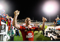 18 June 2013; Shane Williams, British & Irish Lions, acknowledges the supporters following his side's defeat. British & Irish Lions Tour 2013, Brumbies v British & Irish Lions. Canberra Stadium, Bruce, Canberra, Australia. Picture credit: Stephen McCarthy / SPORTSFILE