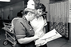 Ward, City Hospital, Nottingham UK March 1991