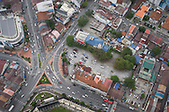 Roadways seen from above in Penang, Malaysia, Southeast Asia
