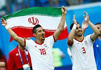 Reza Ghoochannejhad (Iran) and Ehsan Haji Safi (Iran) celebration end of the match<br /> Saint Petersburg 15-06-2018 Football FIFA World Cup Russia  2018 <br /> Morocco - Iran / Marocco - Iran <br /> Foto Matteo Ciambelli/Insidefoto
