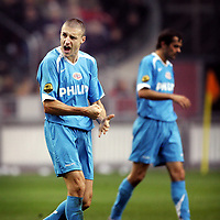 Fotball<br /> Nederland<br /> Foto: ProShots/Digitalsport<br /> NORWAY ONLY<br /> <br /> seizoen 2006 / 2007 , 12-11-2006 ajax - psv 0-1 matchwinnaar timmy simons vreugde na de 0-1
