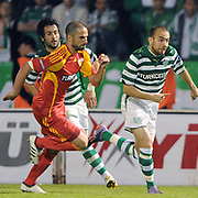Bursaspor's Sercan YILDIRIM (R), Ozan IPEK (B) during their Turkish soccer super league match Bursaspor between Kayserispor at Ataturk Stadium in Bursa Turkey on Saturday, 01 May 2010. Photo by TURKPIX