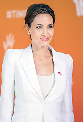 Angelina Jolie today joined UK Foreign Secretary William Hague to launch the summit to End Sexual Violence in Conflict at London's Excel Centre. Image ©Licensed to i-Images Picture Agency. 10/06/2014. London, United Kingdom. Angelina Jolie. the Excel Centre. Picture by i-Images