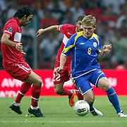 Kazakhstan's Heinrich SCHMIDTGAL (R) during their UEFA EURO 2012 Qualifying round Group A soccer match Turkey betwen Kazakhstan at TT Arena Istanbul September 02, 2011. Photo by TURKPIX