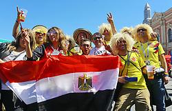June 14, 2018 - Saint Petersburg, Russia - June 14, 2018. - Russia, Saint Petersburg. - Football fans from Egypt visit 2018 FIFA World Cup Fan Fest. (Credit Image: © Russian Look via ZUMA Wire)