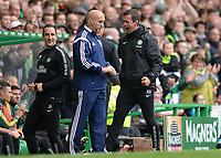16/08/14 SCOTTISH PREMIERSHIP<br /> CELTIC v DUNDEE UTD<br /> CELTIC PARK - GLASGOW<br /> Celtic manager Ronny Deila celebrates as his side bag another first-half goal