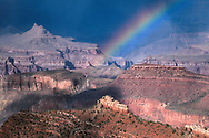 Rainbow over the Grand Canyon from Grandview Point, South Rim Grand Canyon National Park, ARIZONA