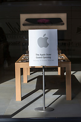 Preperations in-store at the new Edinburgh Apple store, ahead of Saturday's grand opening.