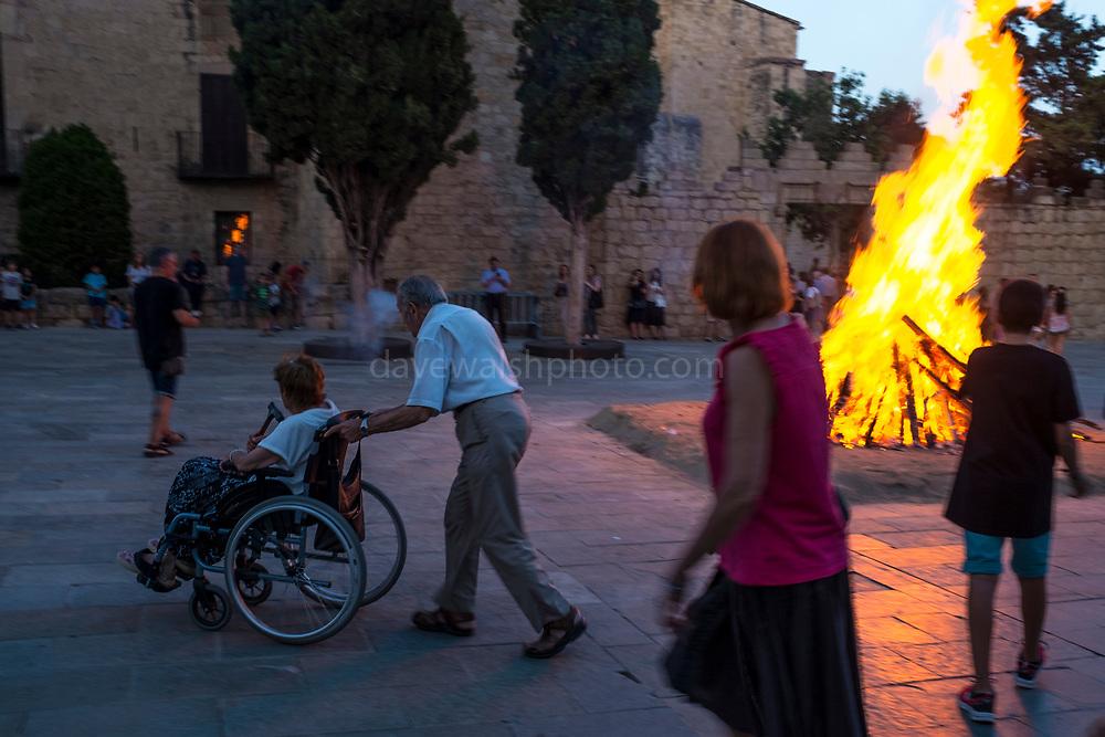 Saint John's Night Celebration 23 June 2019 - The Catalan Festival of Fire. Revetlla de Sant Joan -  Bonfire of Sant Joan - Fogueres de Sant Joan -  Placa Octavia, Sant Cugat