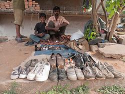 Street shoe vendor and repairer, Mysore