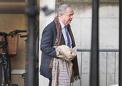 © Licensed to London News Pictures. 13/02/2020. London, UK. Attorney General Geoffrey Cox arrives at Parliament. A cabinet re-shuffle is taking place today - the Prime Minister's first since the election. Photo credit: Peter Macdiarmid/LNP