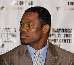 LOS ANGELES, California (September, 24 2008) - Four-Time World Champion Shane Mosley at The Millennium Biltmore Hotel Los Angeles Press Conference September 24, 2008.