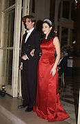 Katherine Embiricos and her escort, Alexis de Bechade. Crillon Debutantes Ball 2002. Paris. 7 December 2002. © Copyright Photograph by Dafydd Jones 66 Stockwell Park Rd. London SW9 0DA Tel 020 7733 0108 www.dafjones.com