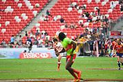 Katsuyuki Sakai (JPN), APRIL 17, 2016 - Rugby : HSBC Sevens World Series, Singapore Sevens match Japan and Portugal at National Stadium in Singapore. (Photo by Haruhiko Otsuka/AFLO)