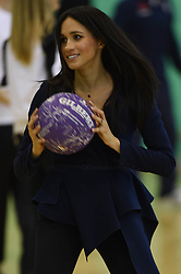 September 24, 2018 - Loughborough, United Kingdom - 9/24/18.Prince Harry, The Duke of Sussex and Duchess Meghan attend the Coach Core Awards at Loughborough University...With masterclasses from sports stars such as marathon runner Paula Radcliffe, British tennis star Laura Robson and England netballer Eboni Beckford-Chambers, more than 200 young Coach Core apprentices will take part in the full day of sports training and mentoring before the awards ceremony, which will celebrate the achievements of young people who have taken part in this life-changing programme. (Credit Image: © Starmax/Newscom via ZUMA Press)