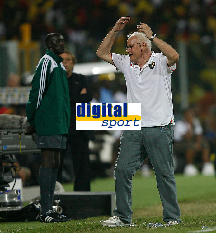Photo: Steve Bond/Richard Lane Photography.<br />Ghana v Cameroon. Africa Cup of Nations. 07/02/2008. Otto Pfister is anguished