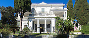Facade of Achilleion Palace, Museo Achilleio, in Corfu, Greece