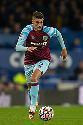 LIVERPOOL, ENGLAND - Monday, September 13, 2021: Burnley's Matthew Lowton during the FA Premier League match between Everton FC and Burnley FC at Goodison Park. (Pic by David Rawcliffe/Propaganda)