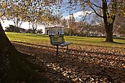 Bench in City Park - Tasmania