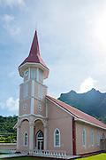 Church, Vaitape, Bora Bora, French Polynesia