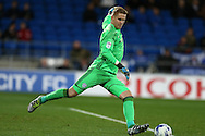 Ben Amos . the Cardiff city goalkeeper in action. EFL Skybet championship match, Cardiff city v Sheffield Wednesday at the Cardiff city stadium in Cardiff, South Wales on Wednesday 19th October 2016.<br /> pic by Andrew Orchard, Andrew Orchard sports photography.