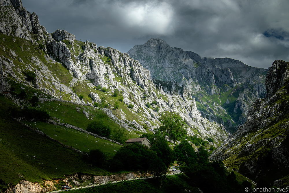 With a population of 130 and sheltered by the peaks of the Eastern and the Central Massif, Sotres, sitting at nearly 3,500 feet, is the highest village in the Picos de Europa National Park.