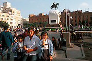 PERU, LIMA, CENTRAL CITY Plaza San Martin, hub of activity