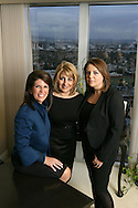 17th February 2009. Los Angeles, California. Women Leaders in the Law, (L-R) Stacy D.Phillips, Grace A. Jamra and Azita Avedissian of law firm: Phillips, Lerner, Lauzon & Jamra. PHOTO © JOHN CHAPPLE / REBEL IMAGES..(001) 310 570 9100   john@chapple.biz   www.chapple.biz
