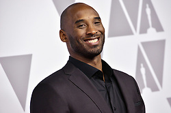 Kobe Bryant arrives at the 90th Annual Academy Awards Nominee Luncheon held at the Beverly Hilton in Beverly Hills, CA on Monday, February 5, 2018. (Photo By Sthanlee B. Mirador/Sipa USA)
