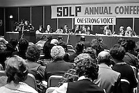 General view, SDLP, Social Democratic & Labour Party, annual conference, Europa Hotel, Belfast, N Ireland, UK, 197501000098GV1..Copyright Image from Victor Patterson, 54 Dorchester Park, Belfast, UK, BT9 6RJ..Tel: +44 28 9066 1296.Mob: +44 7802 353836.Voicemail +44 20 8816 7153.Skype: victorpattersonbelfast.Email: victorpatterson@me.com.Email: victorpatterson@ireland.com (back-up)..IMPORTANT: If you wish to use this image or any other of my images please go to www.victorpatterson.com and click on the Terms & Conditions. Then contact me by email or phone with the reference number(s) of the image(s) concerned.