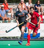 St.-Job-In 't Goor / Antwerpen -  6Nations U23 -  Tjep Hoemakers (Ned) met Tom Sorsby (GB)  . Nederland Jong Oranje Heren (JOH) - Groot Brittannie .  COPYRIGHT  KOEN SUYK