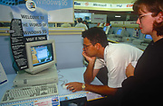 The launch of Microsofts Windows 95 operating system software, sold at midnight on 23rd August 1995, in Croydon, London, England.