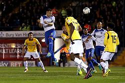 Antony Kay of Bury heads the ball towards goal - Mandatory by-line: Robbie Stephenson/JMP - 24/10/2016 - FOOTBALL - Gigg Lane - Bury, England - Bury v Bolton Wanderers - Sky Bet League One