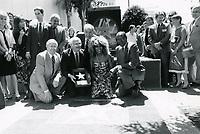 1986 Tina Turner's Walk of Fame ceremony with Mayor Tom Bradley