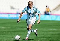 Fotball<br /> Olympiske leker i Aten<br /> Finale<br /> Argentina v Paraguay<br /> 28. august 2004<br /> Foto: Digitalsport<br /> NORWAY ONLY<br />  ANDRES D'ALESSANDRO (ARG)