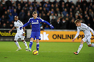 Andre Schurrle of Chelsea in action. Barclays Premier League match, Swansea city v Chelsea at the Liberty Stadium in Swansea, South Wales on Saturday 17th Jan 2015.<br /> pic by Andrew Orchard, Andrew Orchard sports photography.
