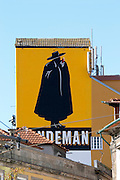 wall painting advertisment for sandeman port porto portugal
